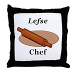 Lefse Chef Throw Pillow