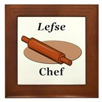 Lefse Chef Framed Tile