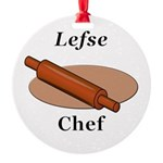 Lefse Chef Round Ornament