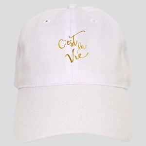 C'est La Vie Gold Faux Foil Metallic Motivatio Cap