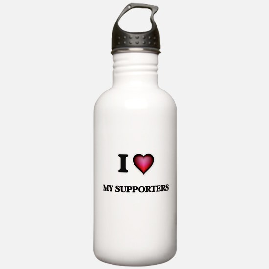 I love My Supporters Water Bottle