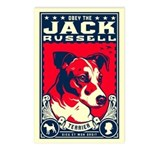 Obey the Jack Russell! Postcards (Package of 8)