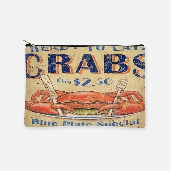 beach seafood vintage crab Makeup Bag