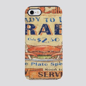 beach seafood vintage crab iPhone 8/7 Tough Case
