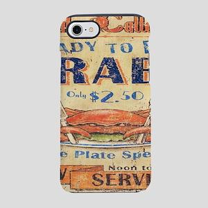 beach seafood vintage crab iPhone 8/7 Tough Case