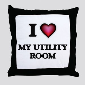I love My Utility Room Throw Pillow