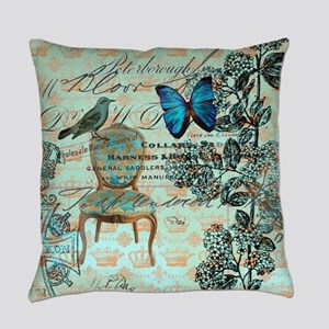french country botanical paris Everyday Pillow