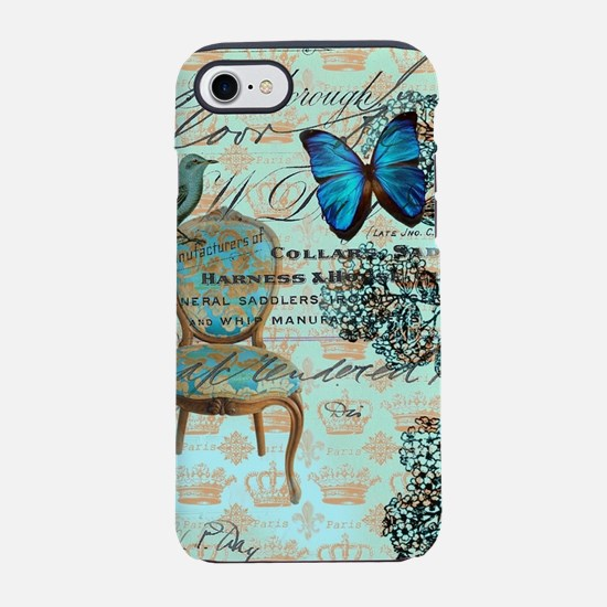 french country botanical par iPhone 8/7 Tough Case