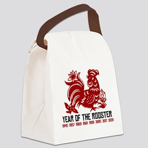 Years of The Rooster Papercut Canvas Lunch Bag