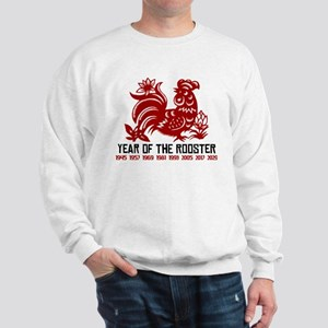 Years of The Rooster Papercut Sweatshirt