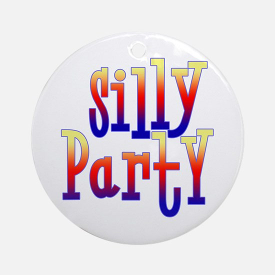 Silly Party Ornament (Round)