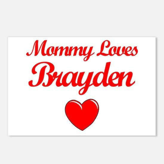 Mommy Loves Brayden Postcards (Package of 8)