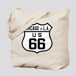 US Route 66 Chicago to L.A. Tote Bag