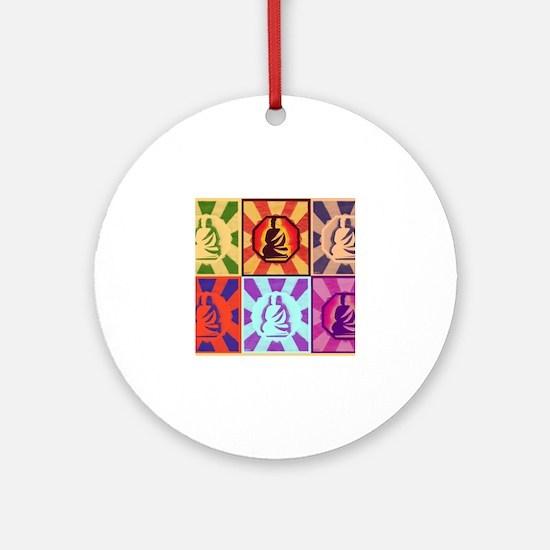 Buddha - Pop Art Style Round Ornament