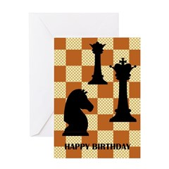 Chess Pieces - Birthday Card