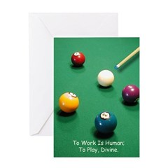 Billiards, Divine - Birthday Card