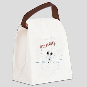 Feliz Navidad Collection Canvas Lunch Bag