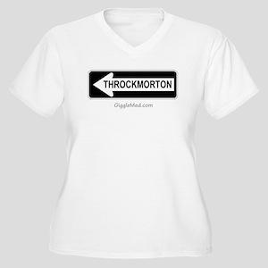 Throckmorton Sign Women's Plus Size V-Neck T-Shirt