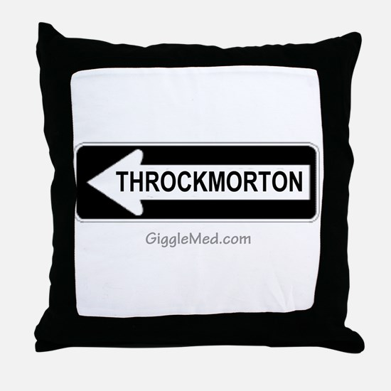 Throckmorton Sign Throw Pillow