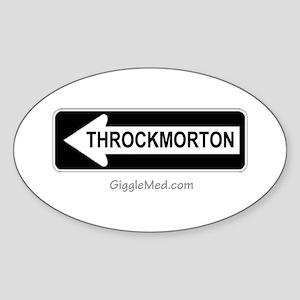 Throckmorton Sign Oval Sticker
