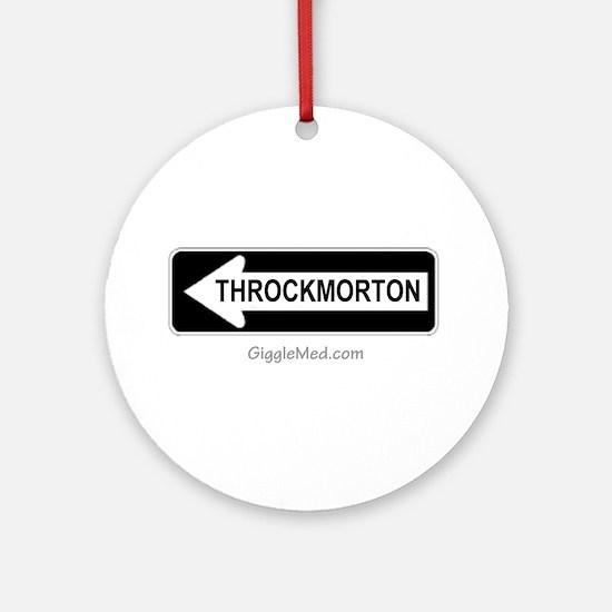 Throckmorton Sign Ornament (Round)
