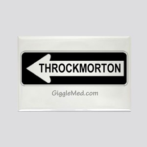 Throckmorton Sign Rectangle Magnet