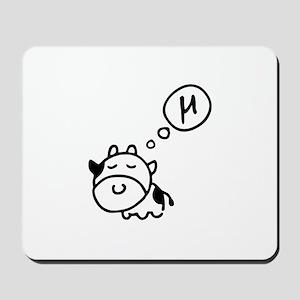 Cow says 'mu' Mousepad