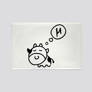 Cow says 'mu' Rectangle Magnet