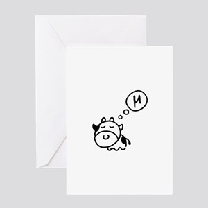 Cow says 'mu' Greeting Card