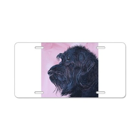 Black Labradoode Aluminum License Plate