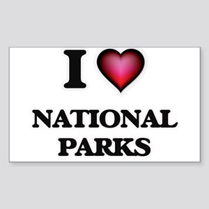 I Love National Parks Sticker