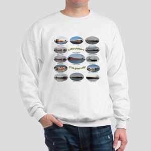 1,000 Foot Freighters On The Great Lake Sweatshirt