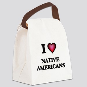 I Love Native Americans Canvas Lunch Bag