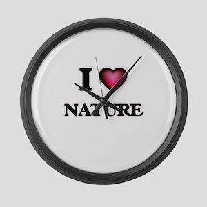I Love Nature Large Wall Clock