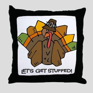 Let's Get Stuffed Throw Pillow