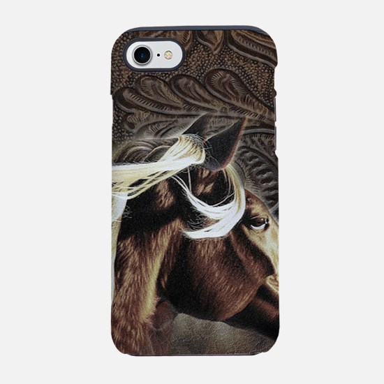 western country leather hors iPhone 8/7 Tough Case