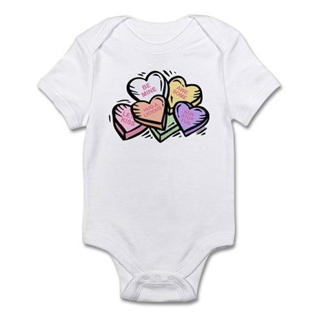 Candy Hearts I Infant Bodysuit