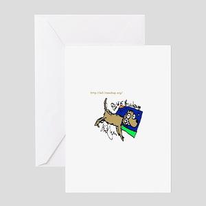Illustful Coffee Hound Greeting Card