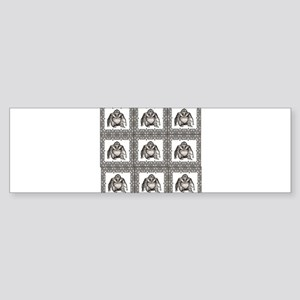 ape rows and cluster Bumper Sticker