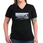 Ocean Ranger Women's V-Neck Dark T-Shirt