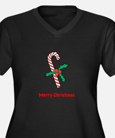 Candy Cane Personalized Plus Size T-Shirt