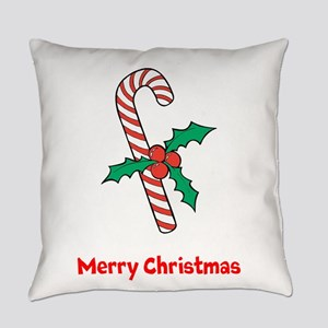 Candy Cane Personalized Everyday Pillow