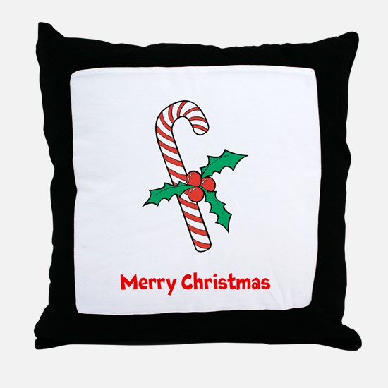 Candy Cane Personalized Throw Pillow
