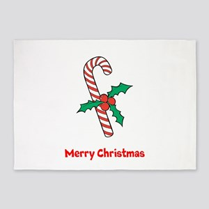 Candy Cane Personalized 5'x7'Area Rug