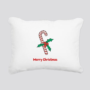 Candy Cane Personalized Rectangular Canvas Pillow