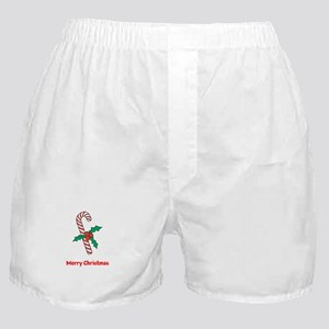 Candy Cane Personalized Boxer Shorts