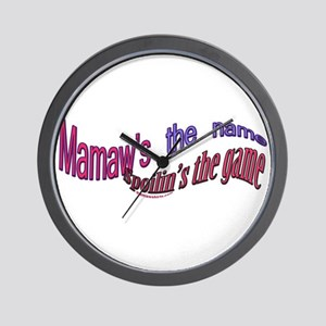 Mamaw's the name, click to vi Wall Clock