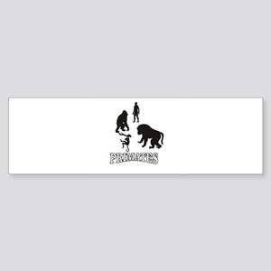 outlines of primates Bumper Sticker