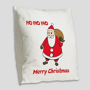 Santa Burlap Throw Pillow