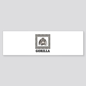 framed ape Bumper Sticker